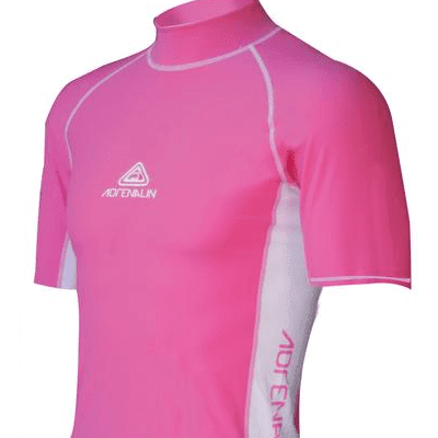Adrenalin MULTI-ITEM 4220142    ~ RASHVEST JNR SHORT SLEEVE PINK New zealand nz vaughan