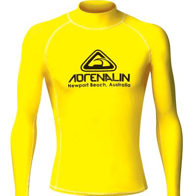 Adrenalin MULTI-ITEM 4221357    ~ RASHVEST MENS HI-VIZ YELLOW New zealand nz vaughan