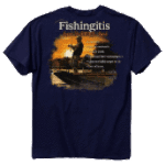 Buckwear MULTI-ITEM 3711753    ~ BUCK FISHINGITIS T-SHIRT New zealand nz vaughan