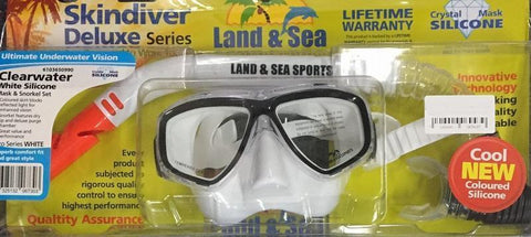 Land & Sea 420526     ~ CLEARWATER WHITE MASK/SNORKEL New zealand nz vaughan