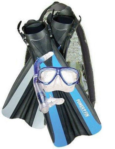 Land & sea MULTI-ITEM 42128      ~ POWER FIN/MASK/SNORKLE SET New zealand nz vaughan