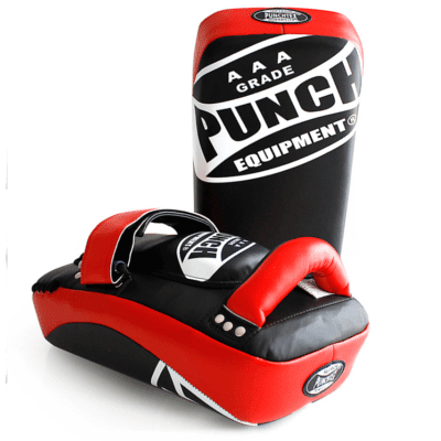 Punch Equipment 90355      ~ AAA THAI PAD  BLK/RED PTP777 New zealand nz vaughan
