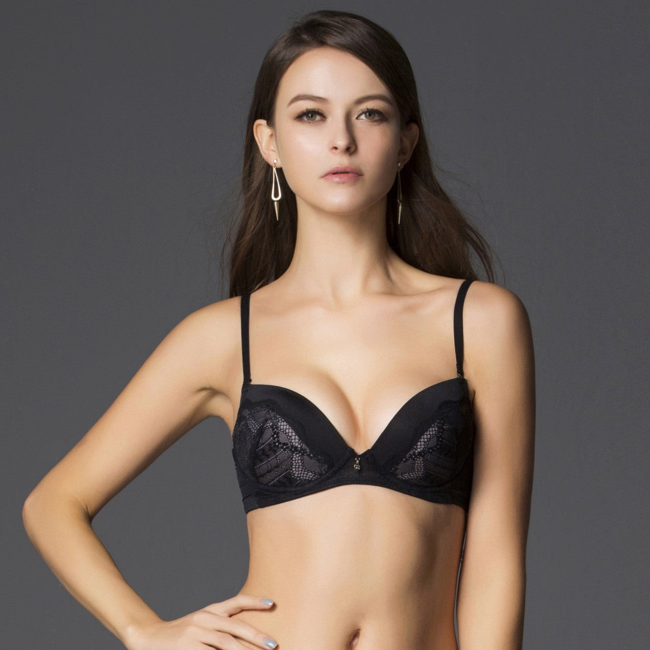 fresh styles up-to-date styling classic chic Black Non Wire Lace Bra – Jockey Malaysia