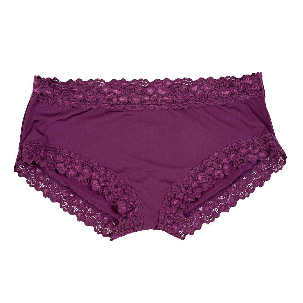 Parisienne Microfiber Boyleg in Purple