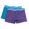 Jockey® Color 2 Pack Microfiber Elastane Mid Trunks