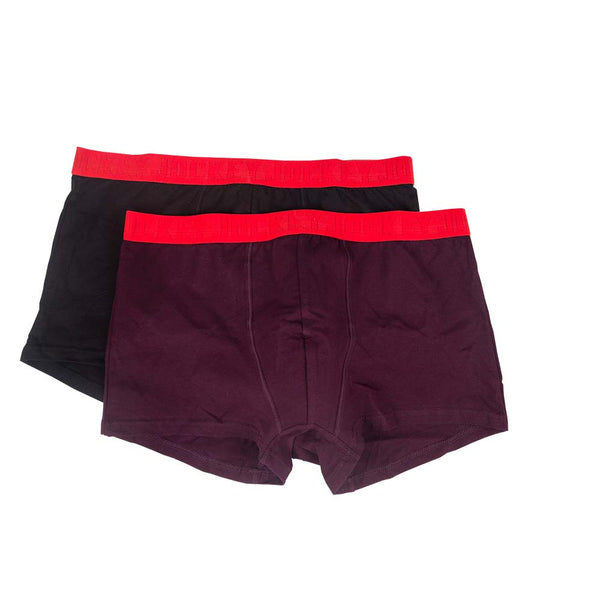2 Pack Cotton Elastane Mid Trunks