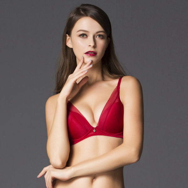 3/4 Cup Bra - Red