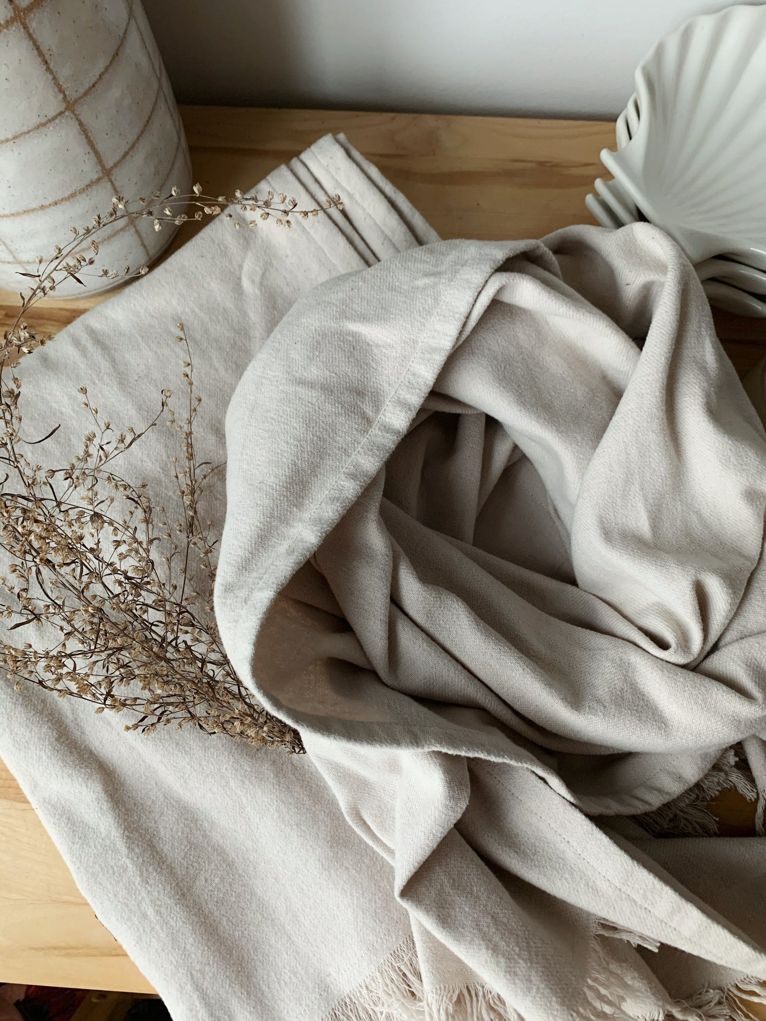 Organic cotton scarves still in stock