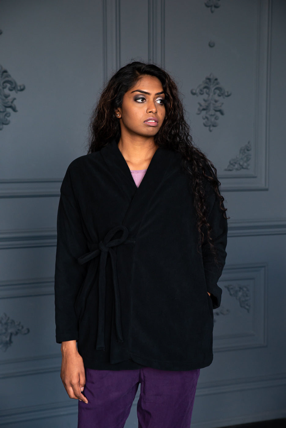 Fleece Wrap | Black