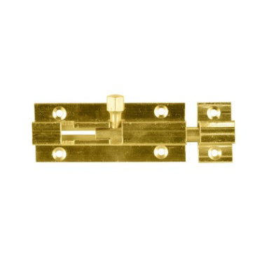 BARREL BOLT - 63mm - POLISHED BRASS