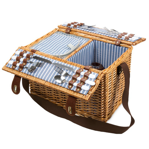 PICNIC BASKET - 4 PERSON - BI FOLD - NAUTICAL