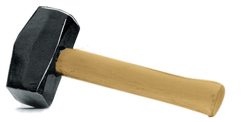 CLUB HAMMER/MALLET -  1.35KG/3 LB - WOODEN HANDLE