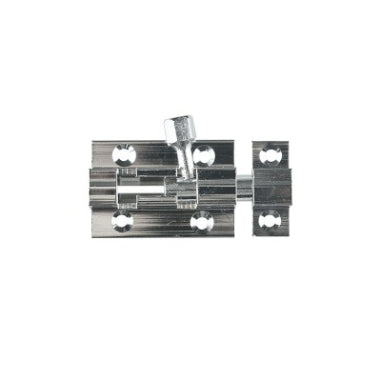 BARREL BOLT - 38mm - CHROME