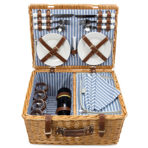 PICNIC BASKET - WICKER  PERSON - NAUTICAL - COMPANION