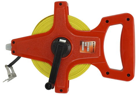 100M OPEN REEL TAPE MEASURE - COMFORT GRIP HANDLE
