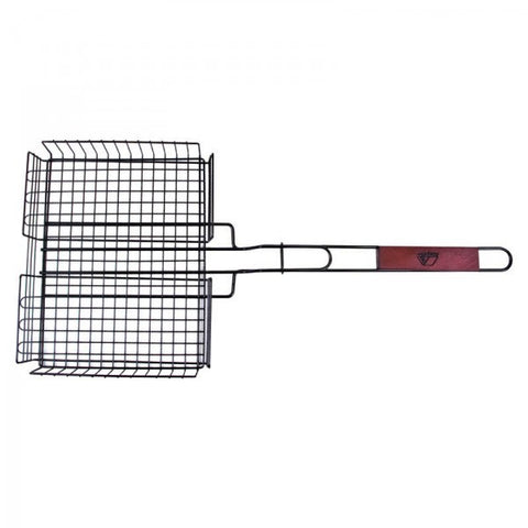BBQ GRILL BASKET - DEEP GRILL BASKET WITH HANDLE