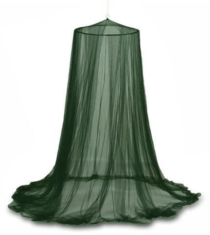 MOSQUITO NET - UMBRELLA  STYLE - GREEN - SINGLE