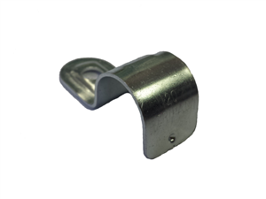 PIPE SADDLE  -  20mm - HALF METAL - 6.5mm HOLE