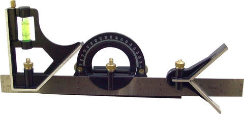 COMBINATION PROTRACTOR & CENTRE SQUARE SET - 300mm