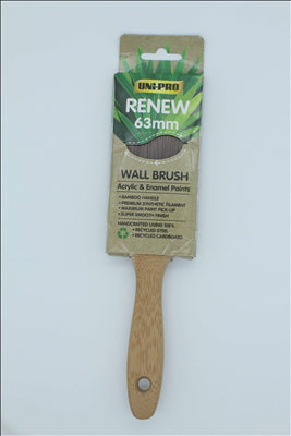 BRUSH - BAMBOO  - RENEW   - 63mm - ARYLIC & ENAMEL - UNIPRO