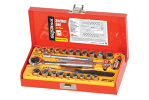 SOCKET SET - 25 PIECE - 1/4  DRIVE - IMPERIAL/METRIC - SUPATOOL - KINCROME