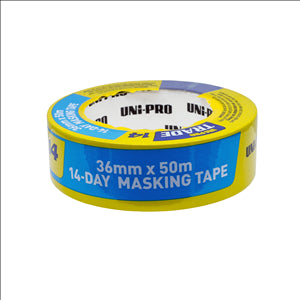 14 DAY PAINTERS MASKING TAPE - BLUE -  36mm x 50m - UNI-PRO