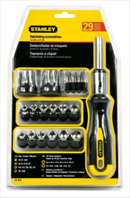 SCREWDRIVER - STANLEY - 29 PIECE RATCHETING SCREWDRIVER PIECE SET