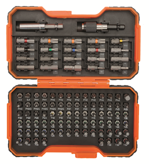DRIVER BIT SET - POWER SCREWDRIVER BIT SET  - 100 PIECE - BAHCO