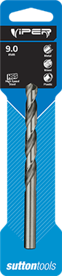 9mm DRILL BIT - VIPER  -  METRIC   HSS