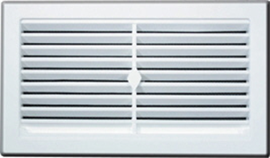 VENT - WALL - PLASTIC - WHITE - 225mm x 75mm - SNAP IN WITH FLYSCREEN