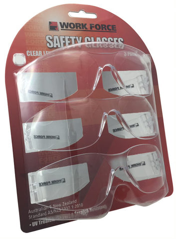 SAFETY GLASSES - 3 PACK