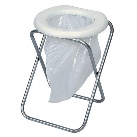 TOILET - CAMPING - PORTABLE - WITH FOLDING FRAME