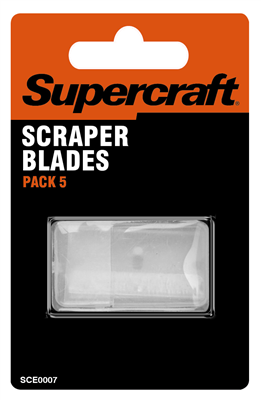 SCRAPER BLADES - 5 PIECE - SUPERCRAFT