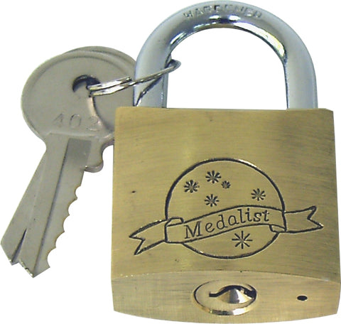 PADLOCK - 30MM - BRASS