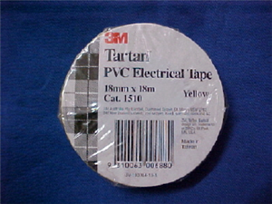 ELECTRICAL TAPE - YELLOW - 18mm x 18m