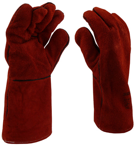 GLOVES - WELDING  - LEATHER  -  EX LARGE