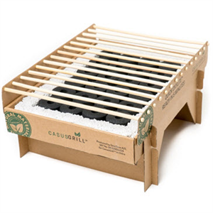 CAMP GRILL - BAMBOO CHARCOAL GRILL  - DISPOSABLE & COMPOSTABLE