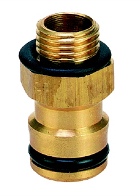 SPRAY ADAPTOR - SOLID BRASS - SCREW TO CLICK-ON HOSE CONNECTOR