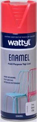 SPRAY PAINT - GLOSS PINK ENAMEL AEROSOL - 325G - WATTYL