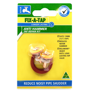 TAP WASHER - DELAWARE -  12mm  - ANTI HAMMER - 2 PIECE