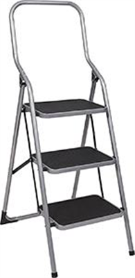 LADDER  - 3 STEP - WIDE STEPS - RATED TO 100KG
