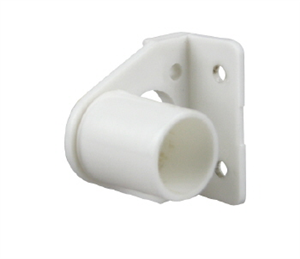 CURTAIN BRACKET -  MUSLIN - WHITE - 2 PACK