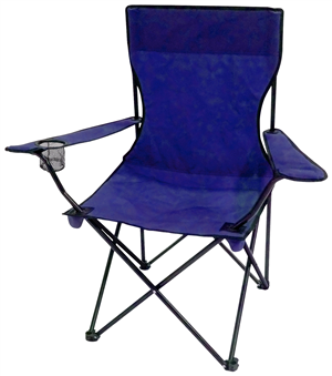 CAMP CHAIR - FOLDING - BLUE