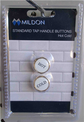BUTTON - TAP HANDLE - STANDARD - H & C - GOLD