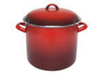 STOCK POT -  8.2L  24 x 20cm - RED ENAMEL - CHASSEUR
