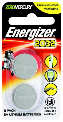 BATTERY - 2032 - LITHIUM COIN - 2 PACK