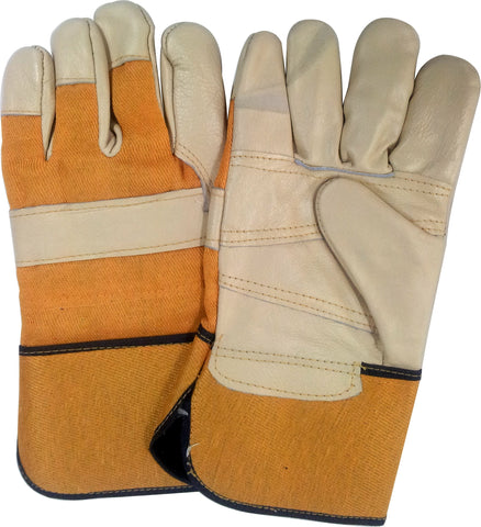 WORK GLOVE - HEAVY DUTY - LINED - LARGE