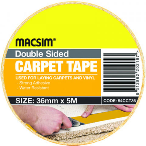 CARPET TAPE - DOUBLE SIDED - 48mm x 5m -  MACSIM