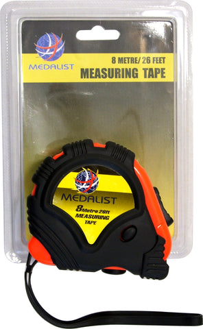 MEASURING TAPE - STEEL - 8m/26ft x 25mm