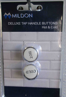 BUTTON - TAP HANDLE - DELUXE - H & C - CHROME